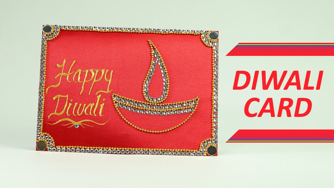 How To Make Diwali Cards Diy Greeting Cards Tutorial Youtube