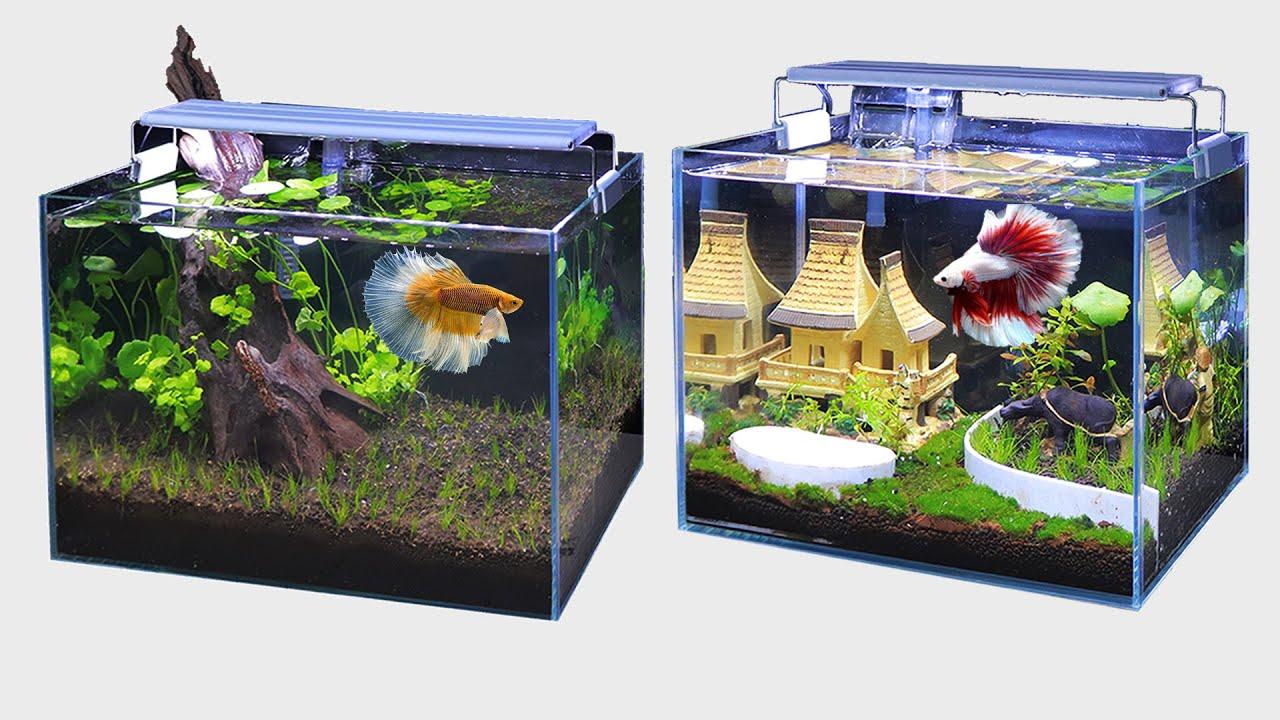 Decryption Top 7 Amazing Diy Aquarium Decoration Ideas For Betta Guppy Fish Not Goldfish Youtube