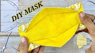 NEW Design DIY Face Mask With Filter Pocket Tutorial How to make Mask NO FOG ON GLASSES