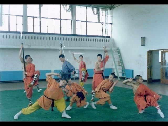 Preparation Shaolin Monks for demo filmed Sifu Walter Toch China 1989