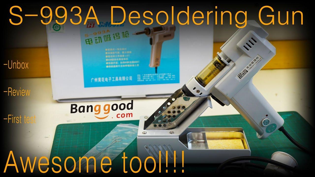 S-993A 110V Vacuum Desoldering Pump Solder Sucker Heat Core Heater