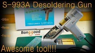 S-993A Electric Solder Su¢ker / Desoldering Gun from banggood [unbox - review - first test]