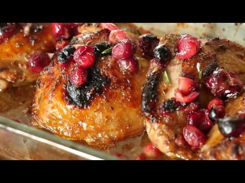 Roasted Balsamic Cranberry Chicken