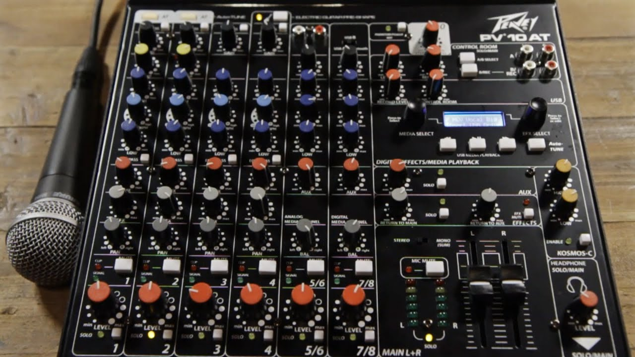 peavey pv 10 at mixer with auto tune youtube. Black Bedroom Furniture Sets. Home Design Ideas