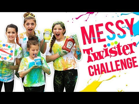 HILARIOUS MESSY TWISTER CHALLENGE! ft. Annie LeBlanc & Hayley from Bratayley