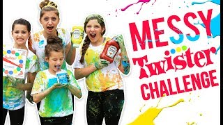 HILARIOUS MESSY TWISTER CHALLENGE! (ft. Annie LeBlanc & Hayley from Bratayley) thumbnail