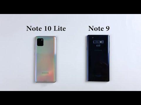 SAMSUNG Note 10 Lite Vs Note 9 | Speed Test | Size & Design Comparison