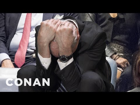 John Kelly Looked Uncomfortable During Trump's UN Speech  - CONAN on TBS