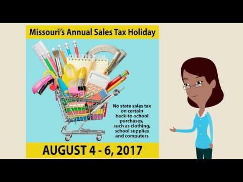 Missouri Tax Free Holiday