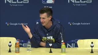 Brewers manager Craig Counsell's Game 7 pregame press conference