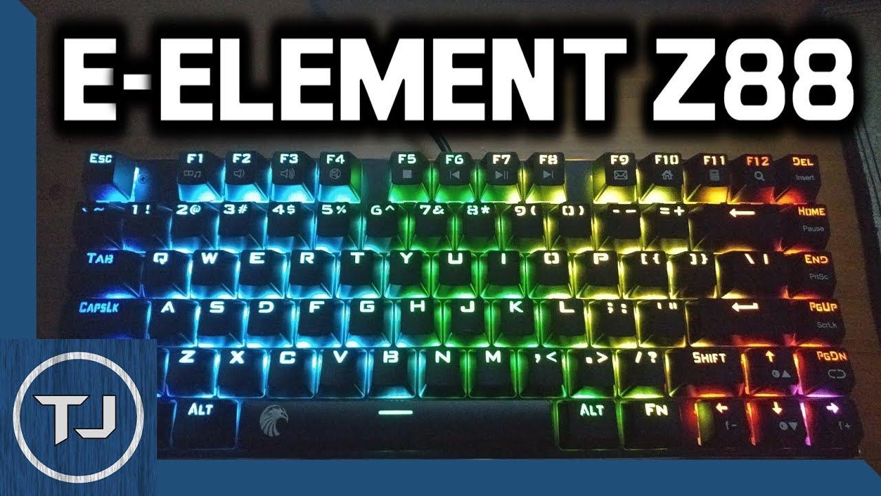 34515e64ba3 E-Element Z88 RGB Mechanical Gaming keyboard! (CHEAP) 2017! - YouTube