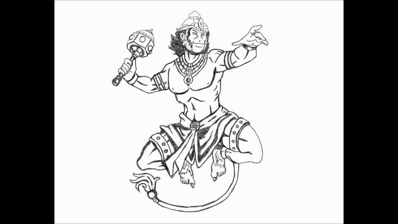 Hanuman Painting - YouTube
