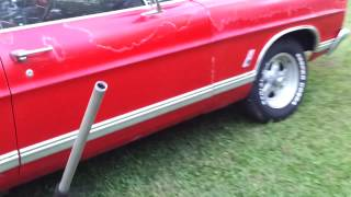 1967 Ford Galaxie 500 first start up