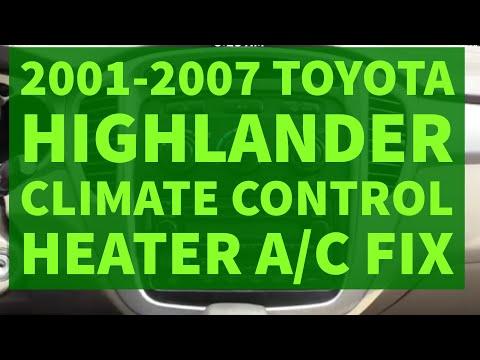 Toyota Highlander Climate Control Heater A/C Repair DIY Fix 2001-2007