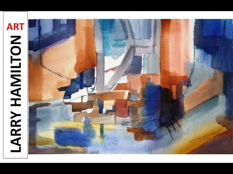 "Paint Along with Larry Hamilton- Watercolor - Nov. 6, 2016 ""Abstract from Peggy's Cove Photo"""