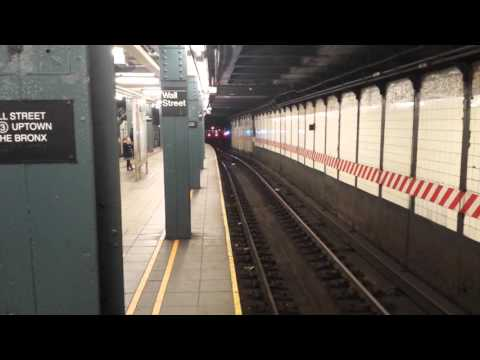 IRT Seventh Avenue Line: Downtown & Uptown R142 (2) Train @ Wall Street