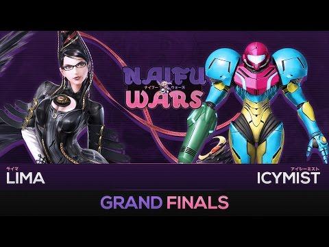 Naifu Wars #3 Grand Finals - Lima (Bayonetta) vs IcyMist (Samus, Diddy Kong) - Smash Wii U