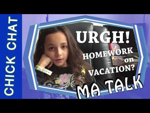 OMG! I CAN'T BELIEVE I HAVE TO DO HOMEWORK ON VACATION!