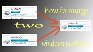 how to marge hard drive partitions windows 7