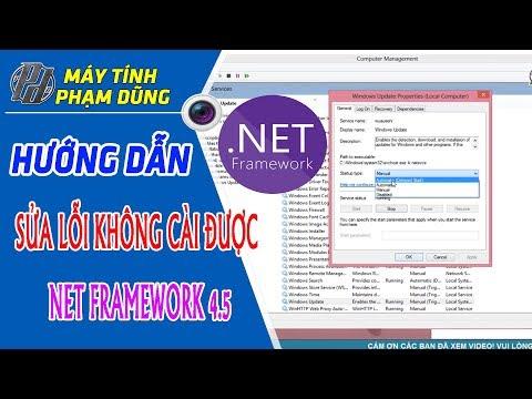 Khắc Phục Lỗi Không Cài được NET Framework Trên Máy Tính