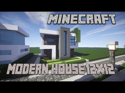 Minecraft house tutorial modern house 12x12 plot youtube for Minecraft modern house 9minecraft
