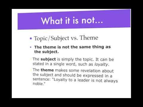 Theme- lesson