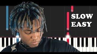 Juice Wrld - Legends (SLOW EASY PIANO TUTORIAL)