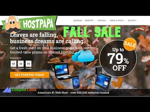 hostpapa fall sale 2020