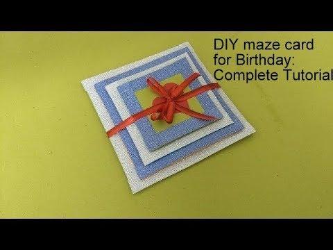 DIY Maze card / Birthday card idea for Love : complete tutorial
