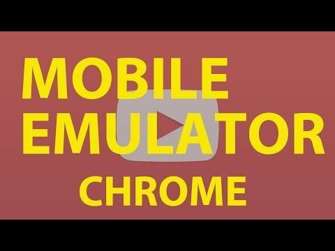 Mobile Emulator Test Website Using Browser Chrome