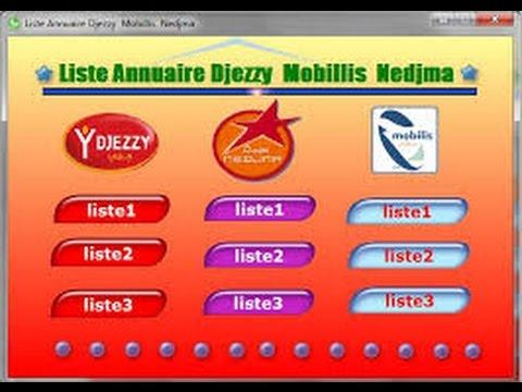 annuaire djezzy mobilis nedjma 2014