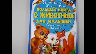 Видео обзор энциклопедии большая книга о животных для малышей от ч п Бабич