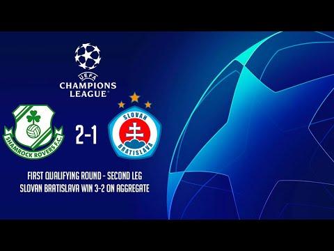 HIGHLIGHTS | Shamrock Rovers 2-1 Slovan Bratislava (2-3) - UEFA Champions League