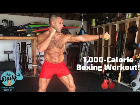 ��1,000-Calorie Boxing Cardio Workout | BJ Gaddour Men's Health Fat Loss Conditioning