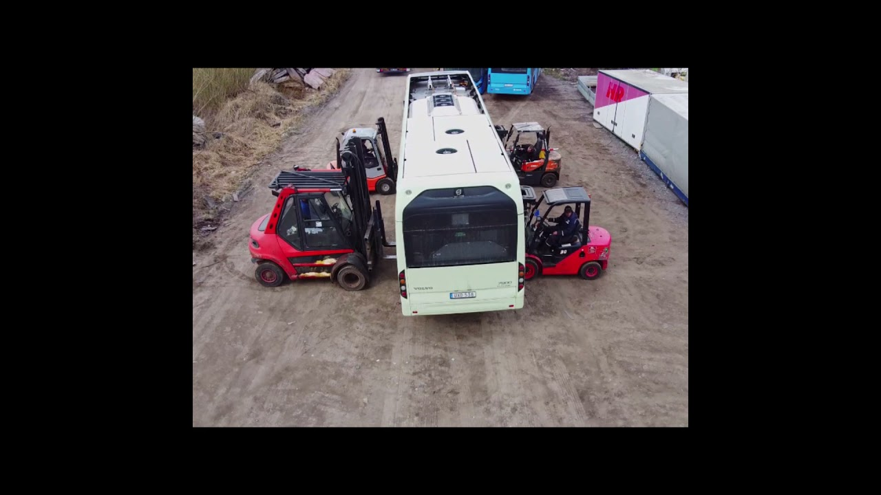 VEHICLE FOR PARTS - VOLVO B0E, 2017, Electric