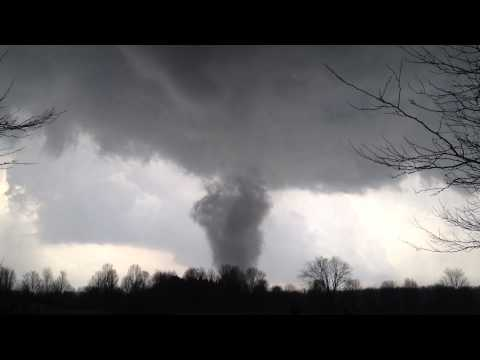 Tornado In Dexter Michigan March 15th 2012 Unbelievable Footage! From Hudson Mills