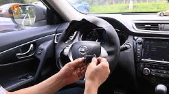 How to install custom hand stitched leather steering wheel cover installation for Nissan X-Trail