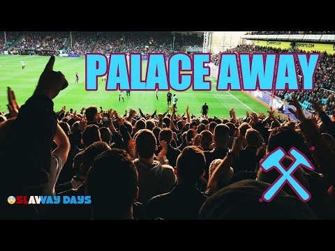 West Ham fans at Palace - Away day