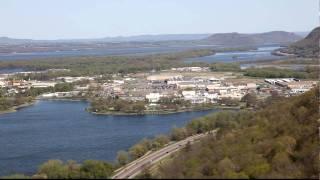 Winona MN as seen from Garvin Heights overlook.
