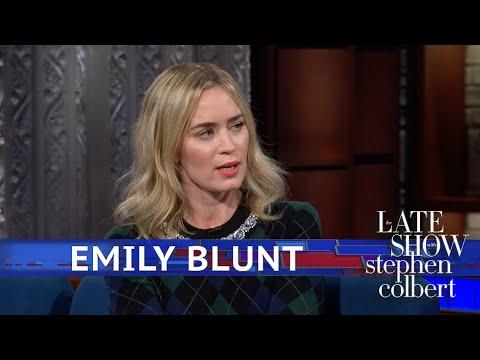 Emily Blunt Thinks Stephen Runs 'Cute'
