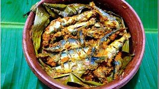 Vazhailayil Vatticha Mathi / Sardine In Banana Leaf