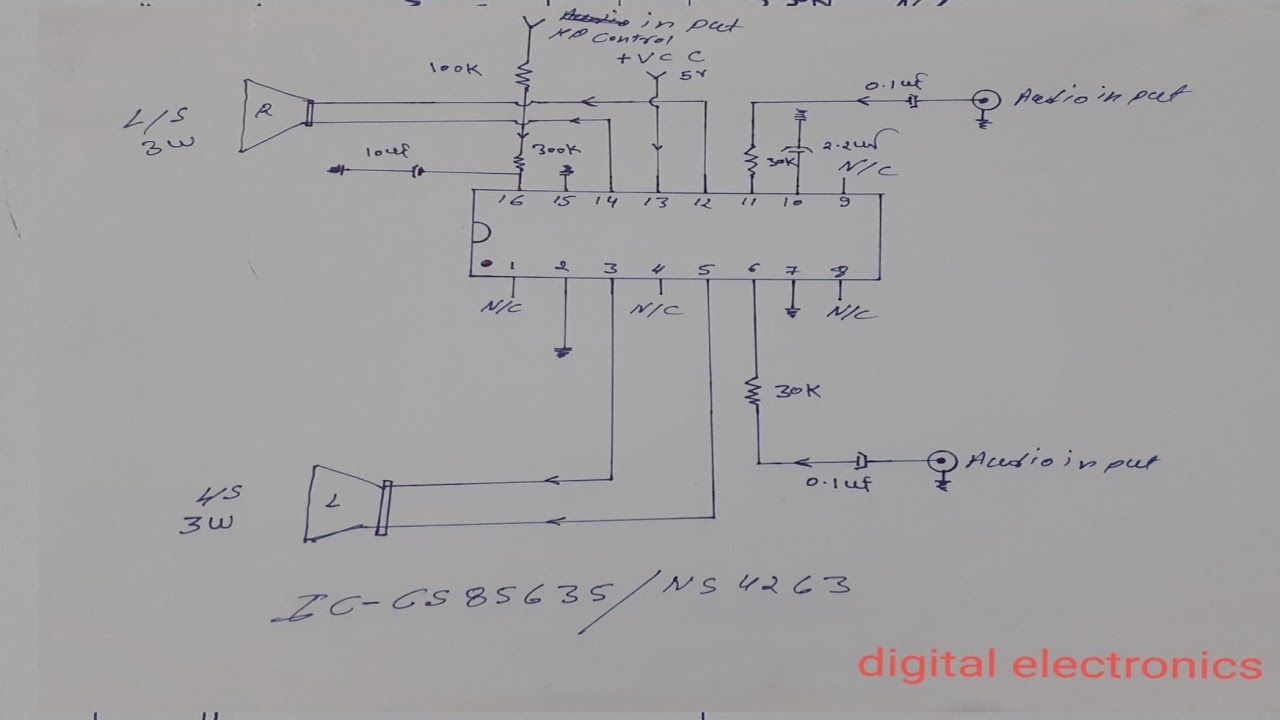 Universal LCD/LED tv audio circuit diagram and explanation | Digital  electronics - YouTubeYouTube