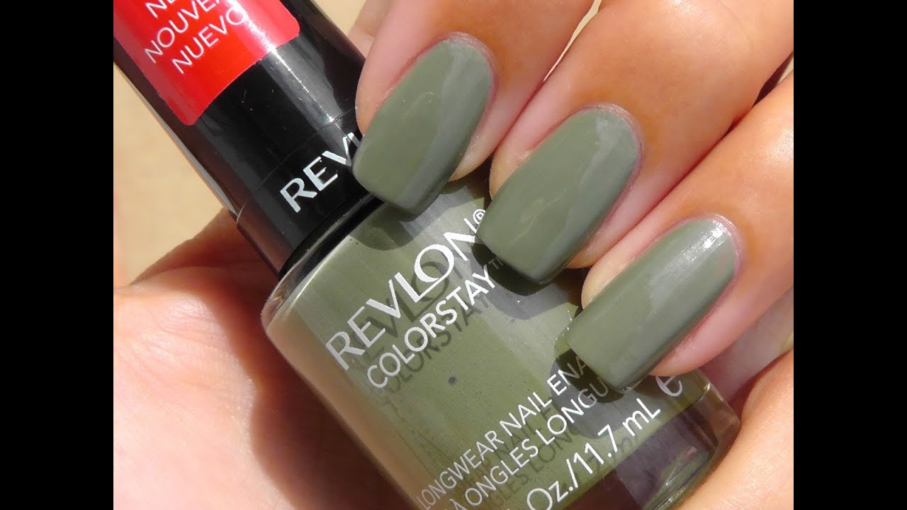 Revlon Colorstay Longwear Nail Enamel Overview/Swatches - YouTube