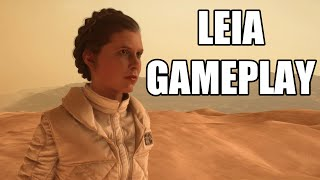 Star Wars Battlefront - Princess Leia Gameplay
