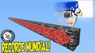 CONSTRUINDO A PONTE MAIS LONGA DO MINECRAFT!