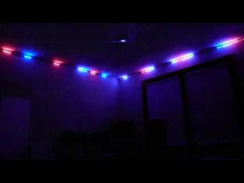 RGB light strip synced to music