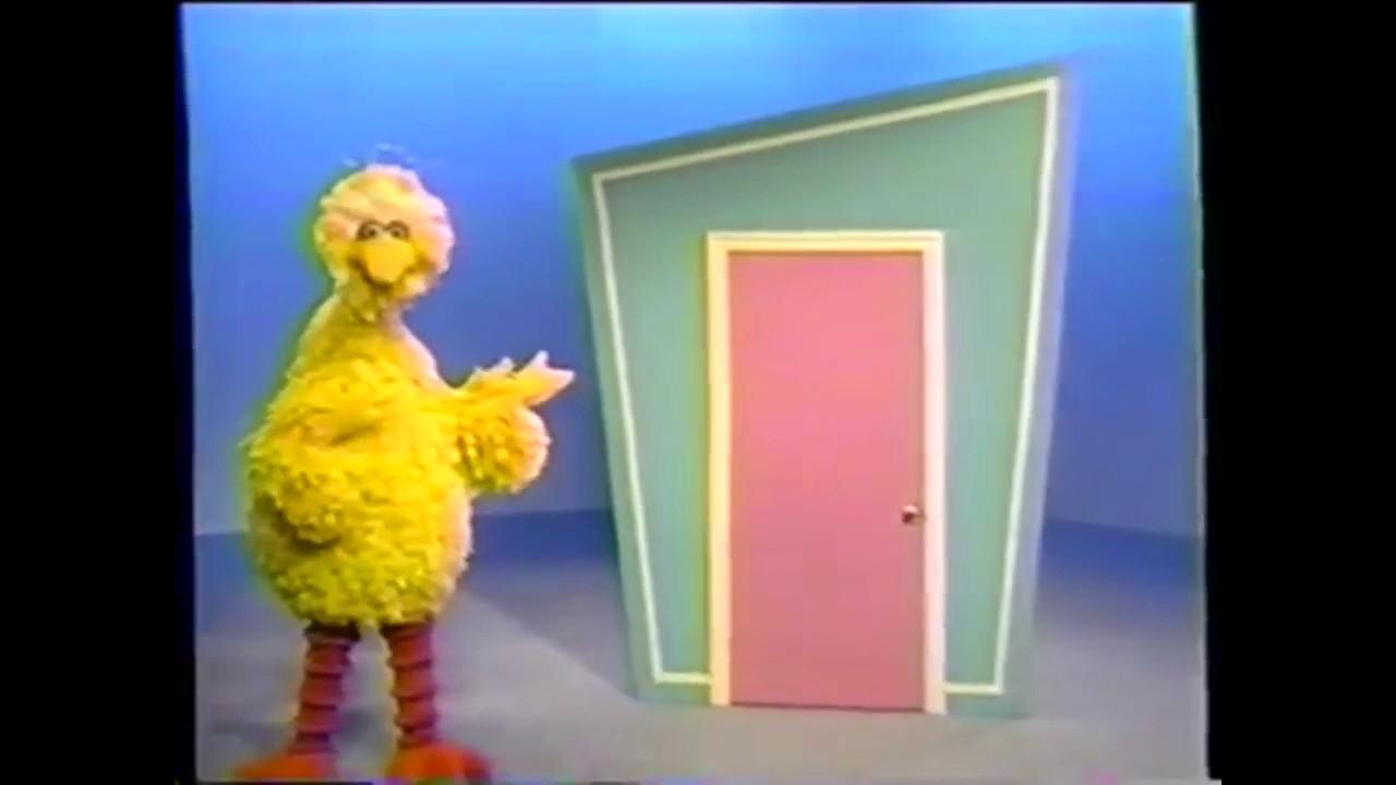 Big Bird Opens The Door