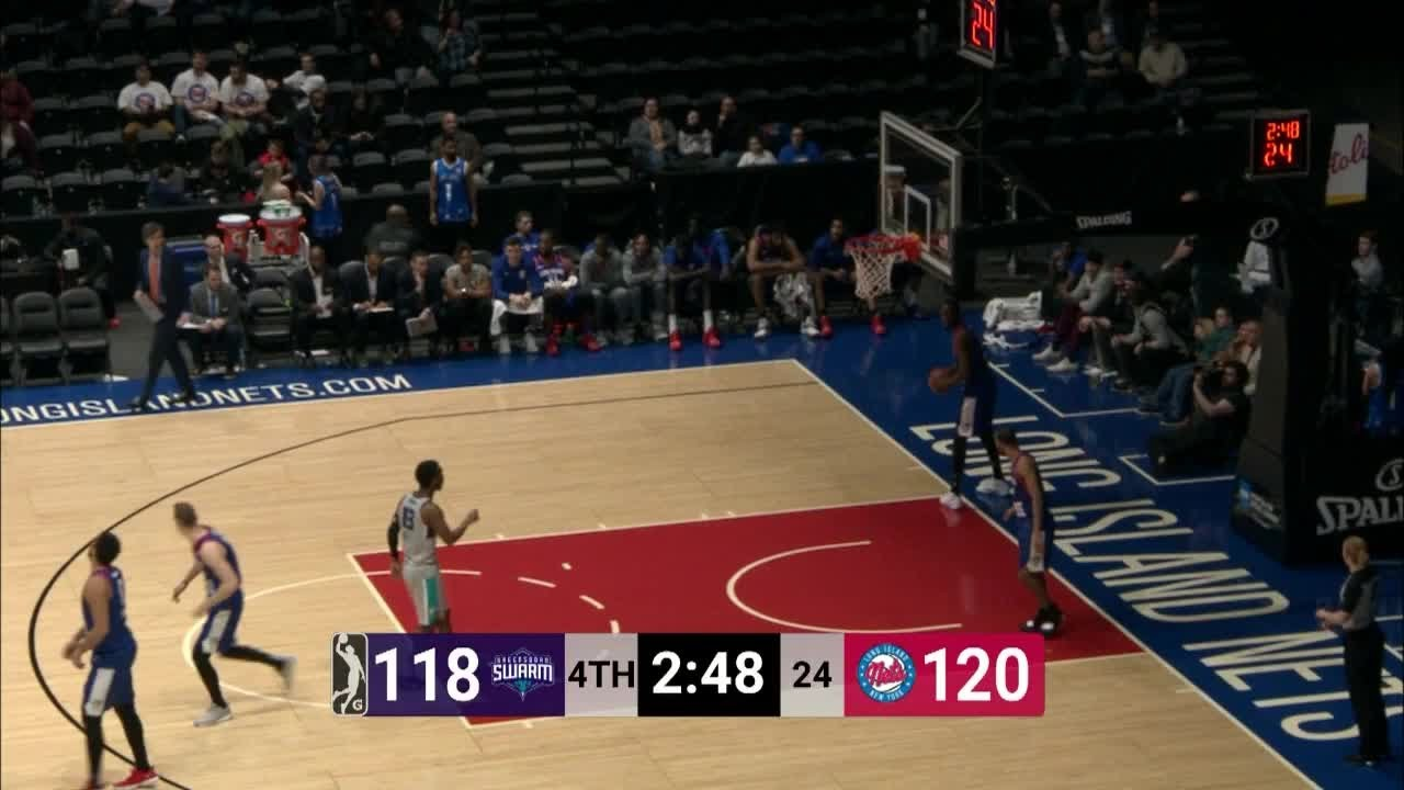 41987809c J.P. Macura (31 points) Highlights vs. Long Island Nets. nbagleague