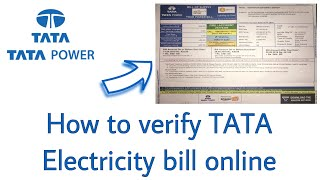 How to verify TATA Electricity bill online ? | TATA Power | in Hindi |