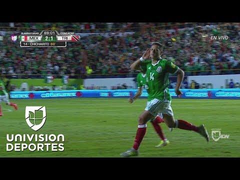 Chicharito le dio la vuelta al marcador y México ya gana 2-1